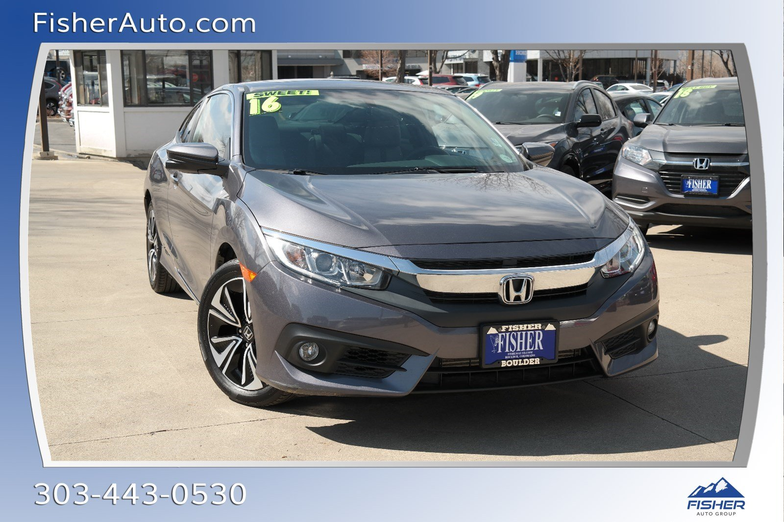 Pre-Owned 2016 Honda Civic 2dr CVT EX-T